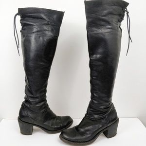 Fiorentini + Baker LaceUp Back Over the Knee Boots